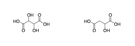 Tartaric and Malic Acids