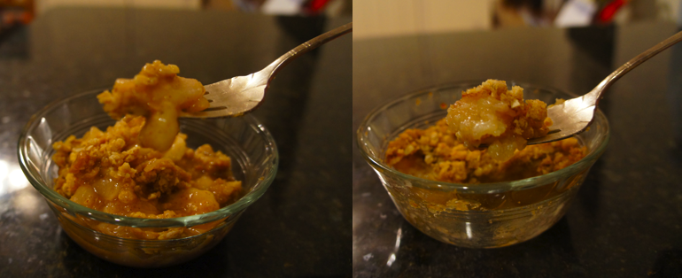 Real vs. Mock Apple Crisp